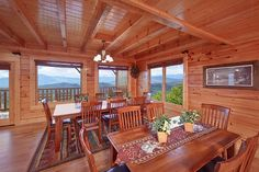 Mountain Pause Retreat - This large 8 bedroom cabin looks out upon the Great Smoky Mountains! http://www.largecabinrentals.com/cabins/mountain-pause-retreat/