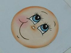 Mariana Santos Arts: May 2014 Clay Pot Crafts, Foam Crafts, Diy Crafts, Doll Face Paint, Tole Painting Patterns, One Stroke Painting, Country Paintings, Cartoon Faces, Doll Eyes
