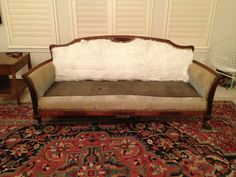 Reupholstering an antique couch