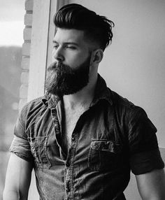 34 Macho Facial Hair Style, Shave with the grain, starting wherever your hair is in its softest. The chin hair is connected by means of a pencil mustache to finish the chinstrap . Mustache Growth, Beard No Mustache, Hipster Mustache, Handlebar Mustache, Beard Styles For Men, Hair And Beard Styles, Hair Styles, Great Beards, Hair Trends