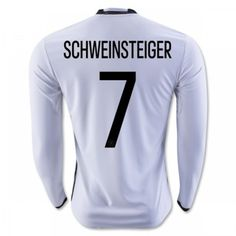 Tyskland 2016 Schweinsteiger 7 Hjemmebanetrøje Langærmet.  http://www.fodboldsports.com/tyskland-2016-schweinsteiger-7-hjemmebanetroje-langermet-1.  #fodboldtrøjer