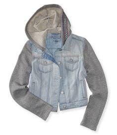 Light Wash Pieced Denim Jacket - Aéropostale®