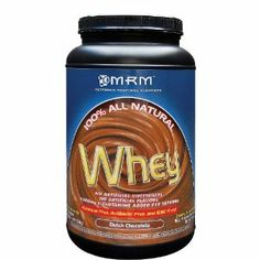 MRM All Natural Whey Protein Powder, Dutch Chocolate, 32 oz by MRM. $30.90