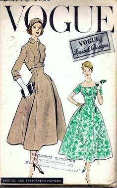 Vogue S-4770, ca 1957; Sz 16/Bust 36 (need to size down 2 sizes)