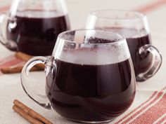 Mulled Wine    2 bottles (750 ml each) dry red wine 1/2 cup brandy 1 cup honey 2 oranges, thinly sliced 4 cinnamon sticks 8 whole cloves 1/2 teaspoon whole allspice