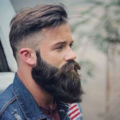 High Skin Fade + Textured Top + Thick Beard