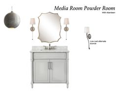 Finishes can be switched out as needed.  also add in $70 sconces from wayfair