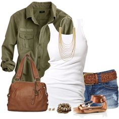 """Olive Green for Summer"" by immacherry on Polyvore"