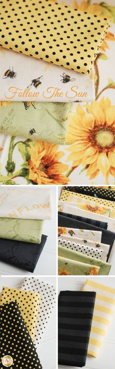 Follow The Sun by Lisa Audit for Wilmington Prints is a cheerful floral fabric collection available at Shabby Fabrics!