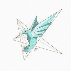 A stylized hummingbird figure, based on star shaped grid. Some very old study… Inspiration Logo Design, Icon Design, Design Art, Graphic Design, Design Blogs, Logo Animal, 2 Logo, Logo Branding, Corporate Branding