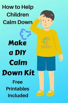 Make a Calm Down Kit -teach children how to self-regulate, manage big emotions, and reduce stress. Here are tools and strategies to use to help your anxious or emotional child calm down. #mosswoodconnections