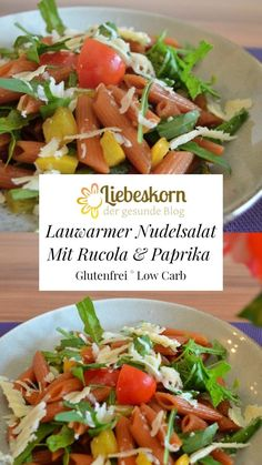 Lauwarmer Nudelsalat aus Linsennudeln – Liebeskorn Tacos, Mexican, Chicken, Meat, Ethnic Recipes, Food, Rocket Salad, Salads, Gluten Free Recipes