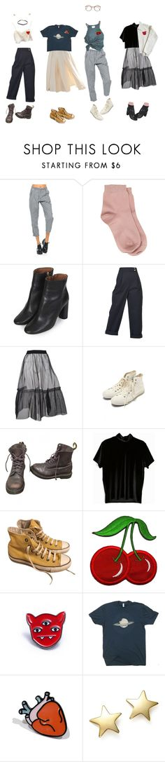 """winter beach picnic"" by rosebuscemi ❤ liked on Polyvore featuring Motel, Maria La Rosa, Topshop, Kenzo, MSGM, Margaret Howell, Dr. Martens, Converse, Bloomingdale's and Prada"