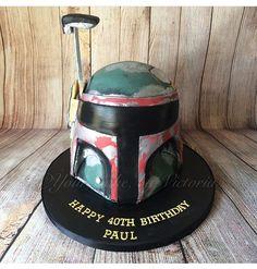 Star Wars Boba Fett 3D carved cake.