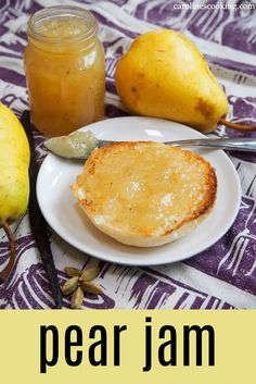 Apple Recipes For Canning, Pear Jelly Recipes, Pear Recipes Easy, Jam Recipes, Cooking Recipes, Spring Recipes, Amazing Recipes, Delicious Recipes, Appetizer Recipes