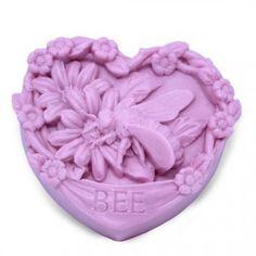 Molde de silicona para hacer jabón de miel, corazón. Apto para jabón de glicerina. Ideal para tus detalles. DIY.