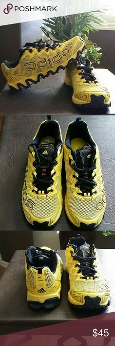 NEW * OrthoLite Adidas * Men's Sneakers Sporty * Yellow/Black Running Shoes * Men's Shoes * Bundle and Save * No Trades  * Adidas Shoes Sneakers