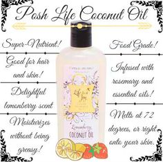 Their are several ways to use Perfectly Posh's 'Posh Life Coconut Oil'! It's great for yous skin AND your hair- you can even use it as a DEEP conditioner to help split ends. See it here: https://www.perfectlyposh.com/posh-life/posh-life-coconut-oil