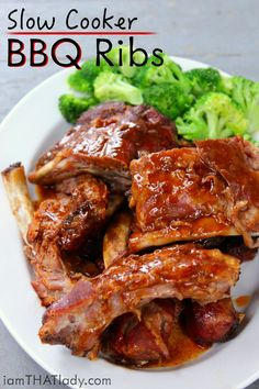 You don't need a smoker to have AWESOME ribs! These Slow Cooker Crockpot Ribs will kill it when you're in the mood for some fall-off-the-bone Baby Back Ribs