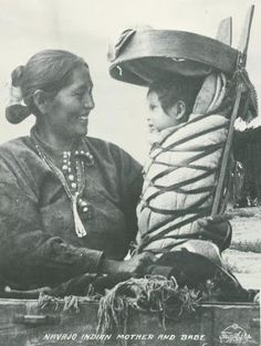 Navajo People originally shared this post: Navajo Mother and Babe [ca. 1940] Photographer: Frashers Fotos More Navajo Women photos: http://navajopeople.org/photos/index.php/Navajo-Woman  More photos from Navajo People