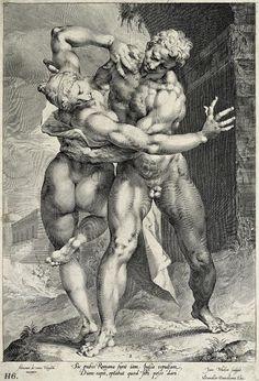Rape of the Sabine women. 1593. Jan Harmensz Muller. Flemish. 1571-1628.