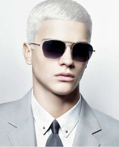 Fashionably White Hair - Calvin Klein Collection S/S 09 Menswear Ads Go For Silver Look (GALLERY)
