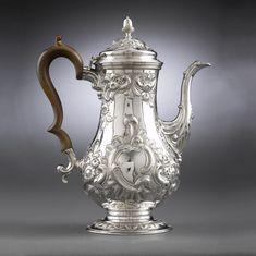 Antique Silver Coffee Pot Hester Bateman Silver