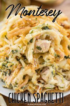 Chicken Spaghetti Casserole, Chicken Spaghetti Recipes, Chicken Recipes, Chicken Cassarole, Easy Casserole Recipes, Casserole Dishes, Healthy Dinner Recipes, Cooking Recipes, Easy Recipes