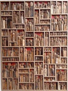 Driftwood Wall Art, Driftwood Sculpture, Rustic Wall Art, Art Mural Rustique, Rock Sculpture, Sculptures, Pottery Handbuilding, Wood Mosaic, Junk Art