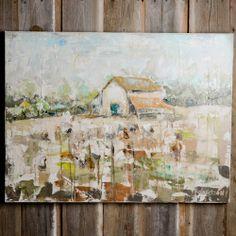 Sarah Robertson Art - Barn in Cotton Field {Bella Vita   Collierville, TN}