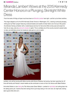 "#Country Singer #MirandaLambert wearing gown ""Agata"" by Peter Langner. Beautiful article taken from @glamour"