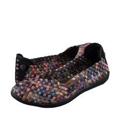 Women's Shoes Bernie Mev. Catwalk Casual Slip On Flats Pink Camo