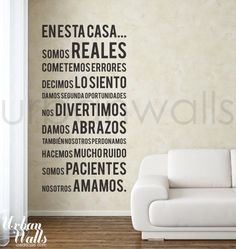 15 DIY garden marker projects Vinyl Wall Sticker Decal, Spanish In this house we do ?