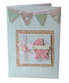 New Baby Girl card by CardsbyCharlotte on Etsy, £3.00