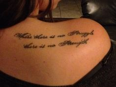 """I got this tat after my last Multiples Sclerosis attack. """"Where there is no struggle, there is no strength"""" #inspiration #strength #winning"""