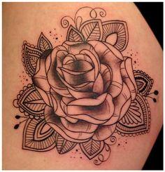 Pinterest // @alexandrahuffy ☼ ☾ | Rose mehndi designs ... |Realistic Rose Tattoos Henna Designs