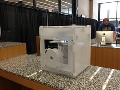 Visit the Digital Commons at the Martin Luther King Jr. Memorial Library.  Housed in a renovated 11,000-square foot section of the library's ground floor, it contains a 3-D printer, an Espresso Book Machine that churns out tomes on-demand, an array of tablet devices, rows of computer terminals with AutoCAD, and several meeting spaces outfitted with some of the newest productivity technology.