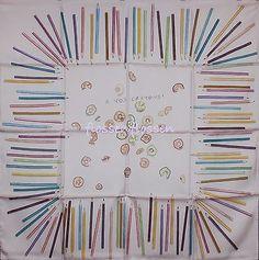A Vos Crayons 45cm Silk Scarf