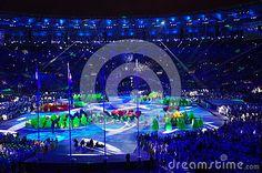 Maracana Stadium in Rio de Janeiro during closing ceremonies of Rio2016 Summer Olympic Games in Brazil. Photo taken on Aug 21st, 2016