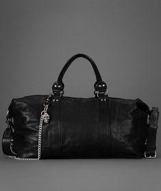 John Varvatos Leather Duffle.  Badass!