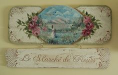 Hand painted French sign French Signs, Art Ideas, Room Ideas, How To Make Signs, Window Signs, Handmade Signs, One Stroke Painting, Country French, Vintage Signs