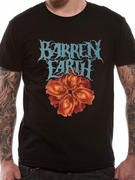 Officially licensed Barren Earth t-shirt design printed on a 100% cotton short sleeved T-shirt.
