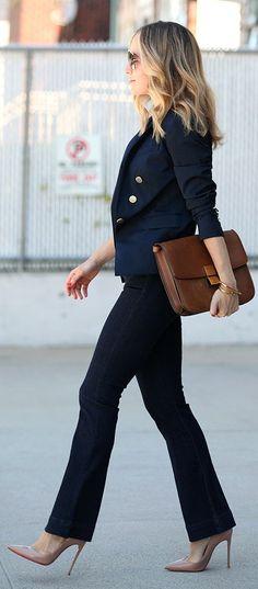 Navy Classic Blazer by Brooklyn Blonde