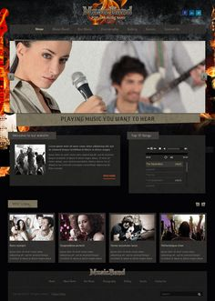 Fire Music Band Bootstrap HTML Template 300111765 by Dynamic Template