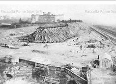 Foto storiche di Roma - Sbancamenti per la costruzione della nuova stazione Ostiense Anno: 1937