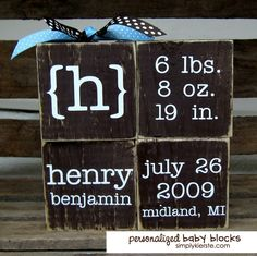 DIY Personalized Baby Blocks | simplykierste.com