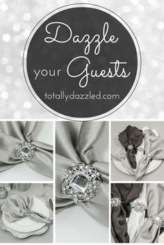 This crystal napkin ring is sure to dazzle guests and is only $1.25 at totallydazzled.com! See what else we have to make your event sparkle. We ship within one business day and your satisfaction is guaranteed.