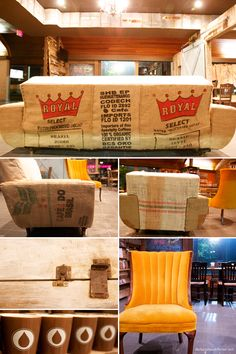 coffee bags and furniture