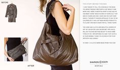 Remade In The USA will take your treasured, old leather jacket and remake into a handbag.  recycling at it's best ~