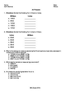 Worksheet - Dew Point and Relative Humidity *Editable | Homework ...